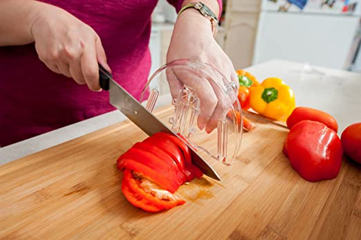 Home-X Finger Cutting Guards Protection Safety Guard for Chopping//Cutting Vegetable//Meat
