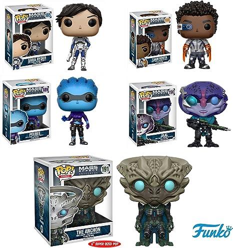 Pop! Games: Mass Effect: AndromedaPeebee, Liam Kosta,Sara Ryder, Jaal, Archon 6