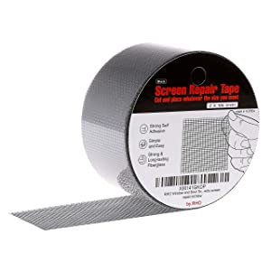 "by.RHO Screen Repair Kit for Window & Door - - 2""X105"" Extra Strong Self Adhesive & Waterproof Screen Repair Tape - Fiberglass Cloth Mesh. Easy to Use & Sticks Great (Black) …"