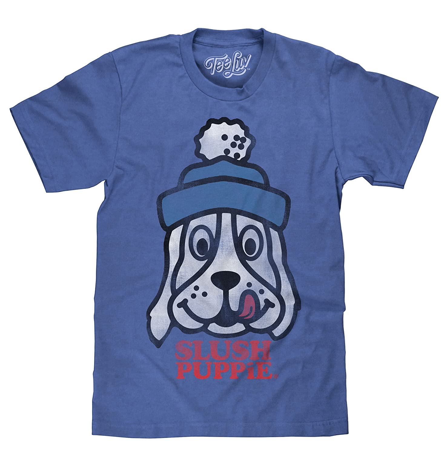 bf373c0b 50% Cotton/50% Polyester YOUR FAVORITE NEW TEE WITH A COOL RETRO LOOK:  Enjoy the nostalgia of the Slush Puppie cartoon dog mascot - printed on the  softest ...