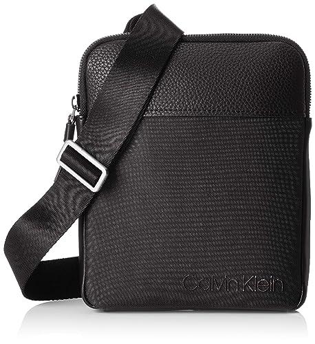 Calvin Klein - Vault Flat Crossover, Shoppers y bolsos de hombro Hombre, Negro (