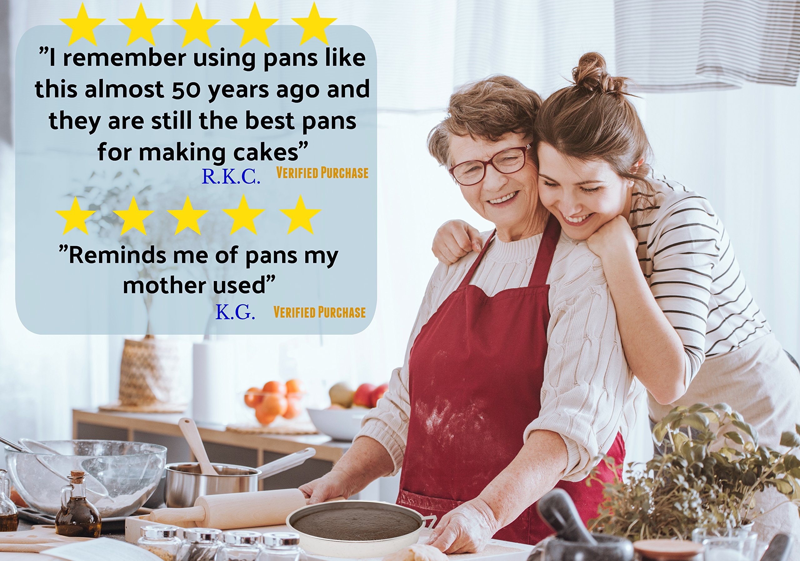 Aunt Shannon's Easy Release 8'' Cake Pans - Set of 3 Quick Release Pans for Easy Cake Removal Every Time by Aunt Shannon's Kitchen (Image #5)