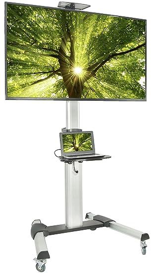 Vivo Ultra Heavy Duty carro para TV de pantalla plana Panel Mobile Rolling Stand W/