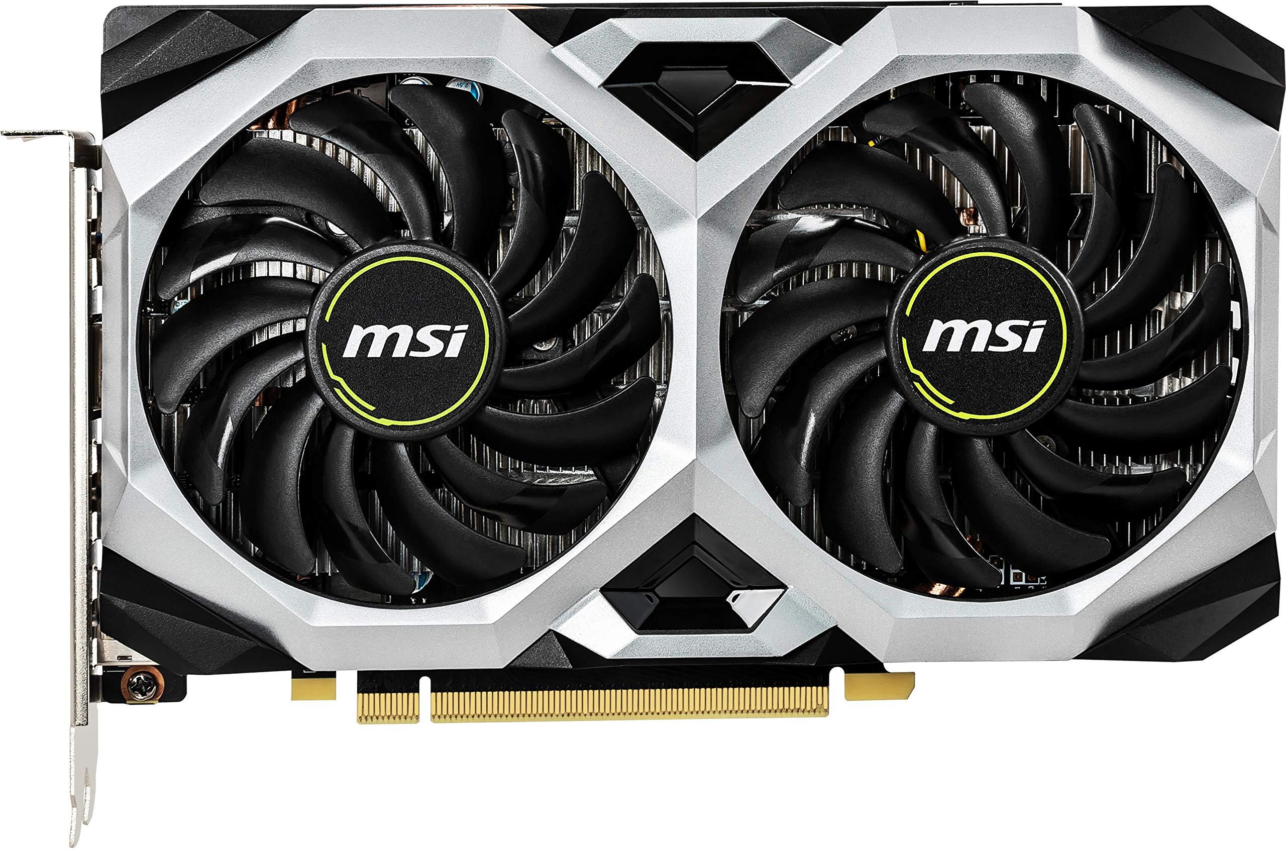 MSI Gaming GeForce GTX 1660 Ti 192-bit HDMI/DP 6GB GDRR6 HDCP Support DirectX 12 Dual Fan VR Ready OC Graphics Card (GTX 1660 TI Ventus XS 6G OC) by MSI (Image #2)