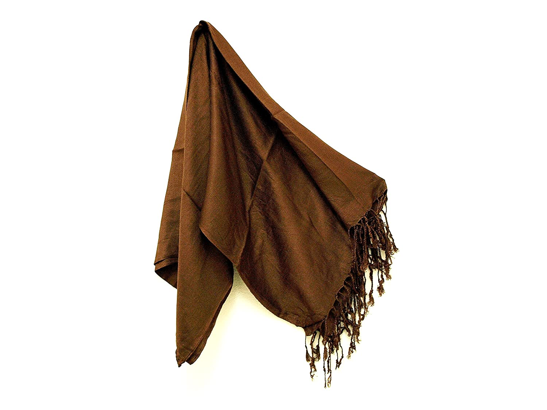 c40cdf0a30e Pashmina Scarf Wrap Shawl Throw - Chocolate Brown by Kuldip
