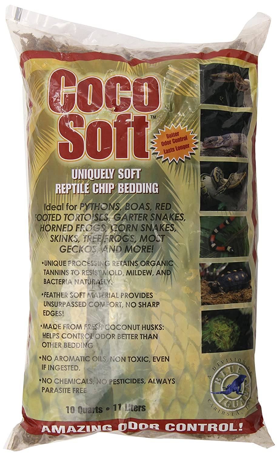 Carib Sea SCS00211 Coco Soft Reptiles Bedding, Coarse Chip, 10-Quart