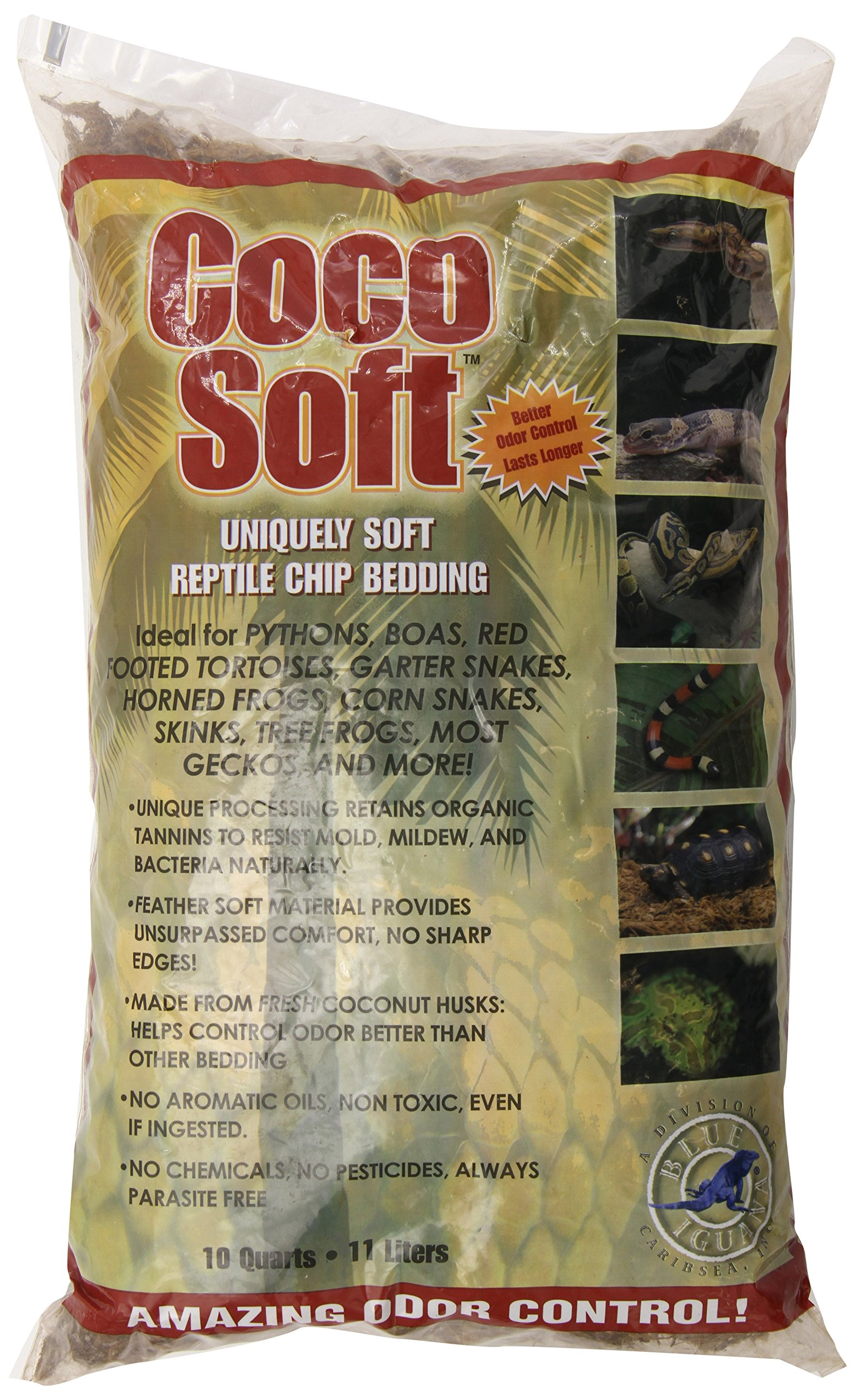 Carib Sea SCS00211 Coco Soft Reptiles Bedding, Coarse Chip, 10-Quart by Carib Sea