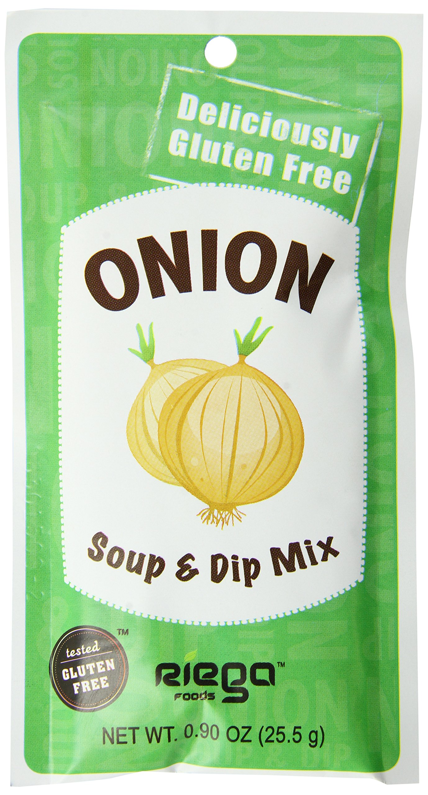 Riega Gluten Free Onion Soup and Dip Mix, 0.90 Ounce (Pack of 8) by Riega