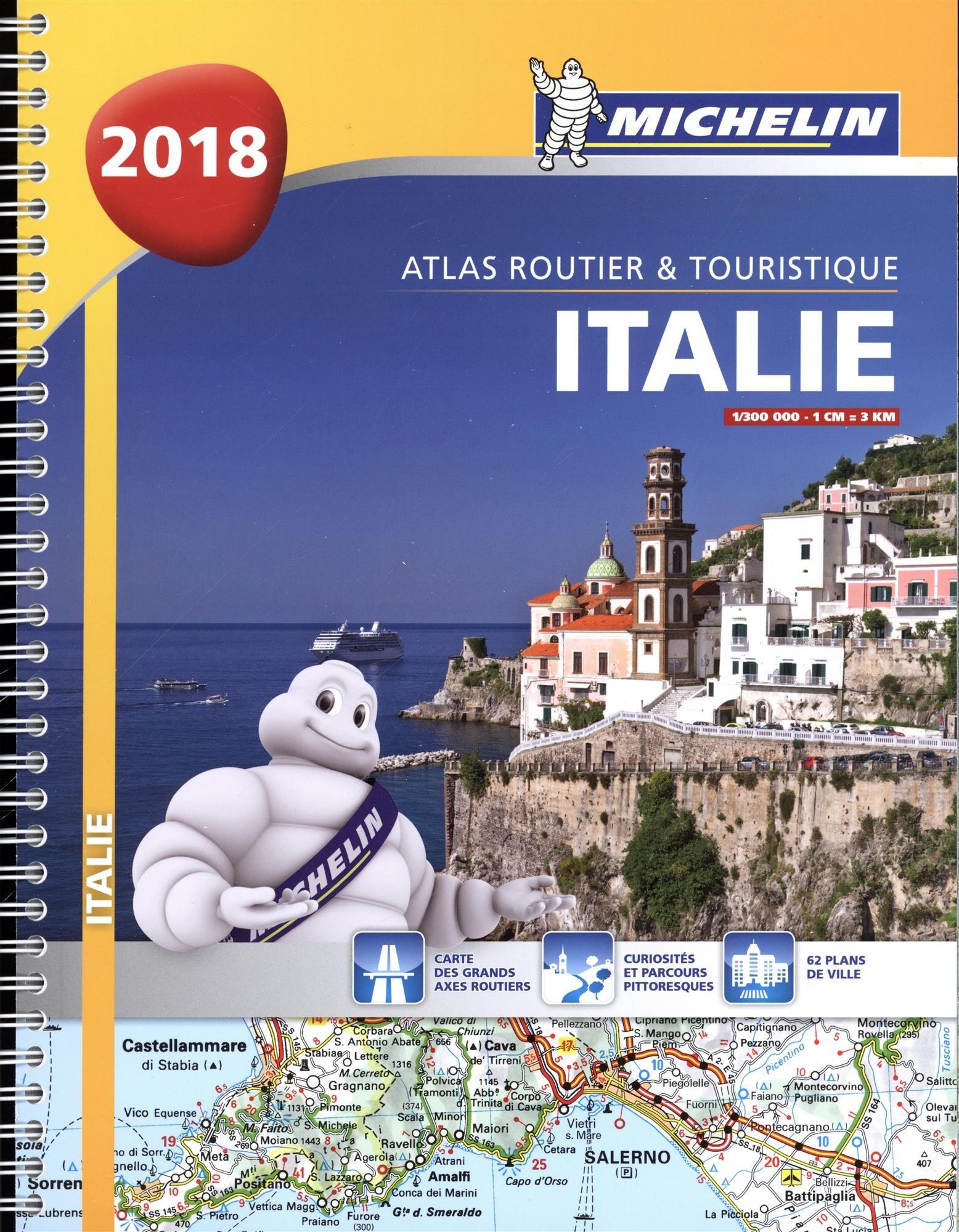 Atlas Routier et Touristique Italie 2018 Michelin Relié – 1 janvier 2018 2067227777 Atlas routiers