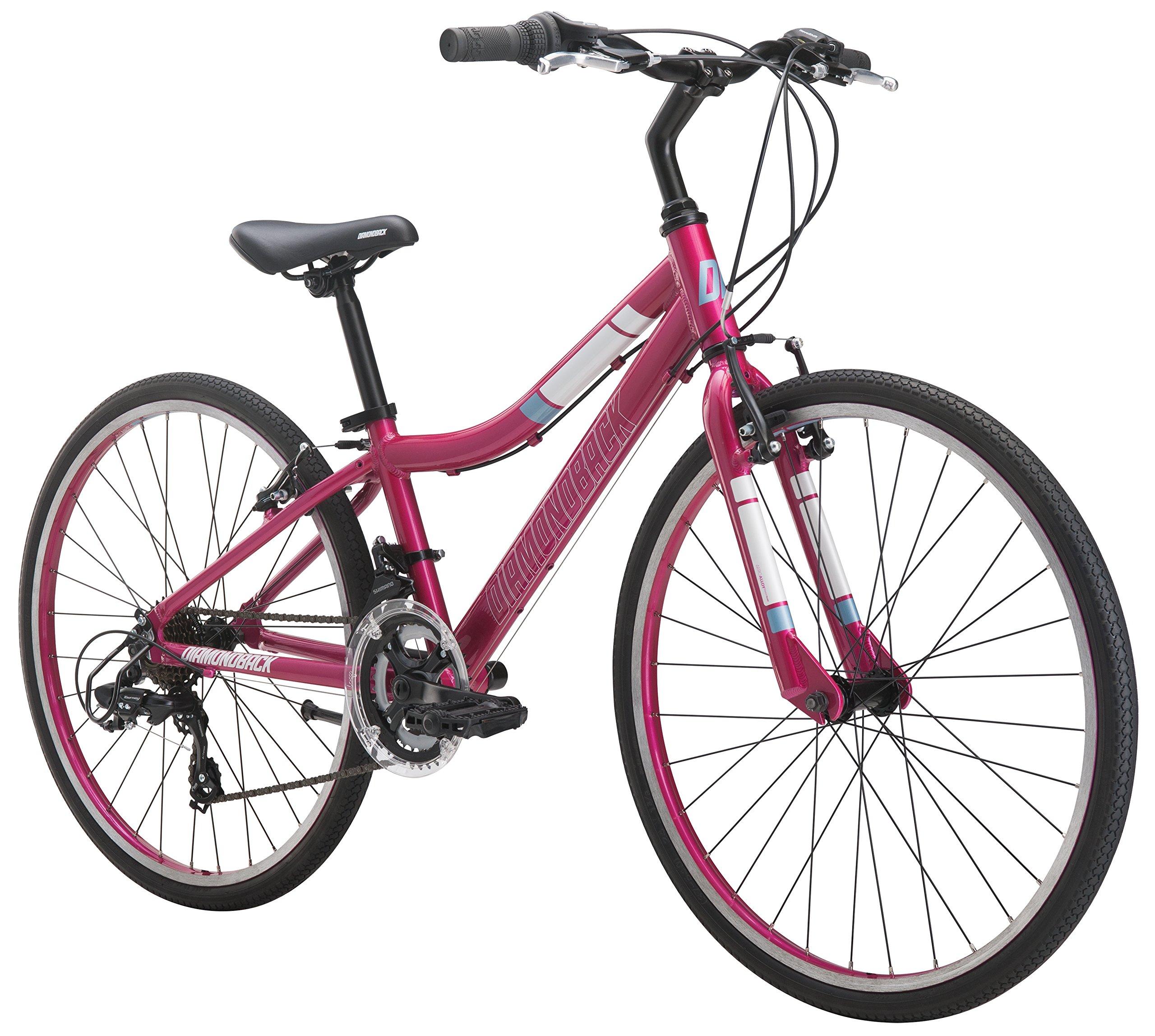 Diamondback Bicycles Clarity 24 Girl's Youth Fitness Hybrid Bike