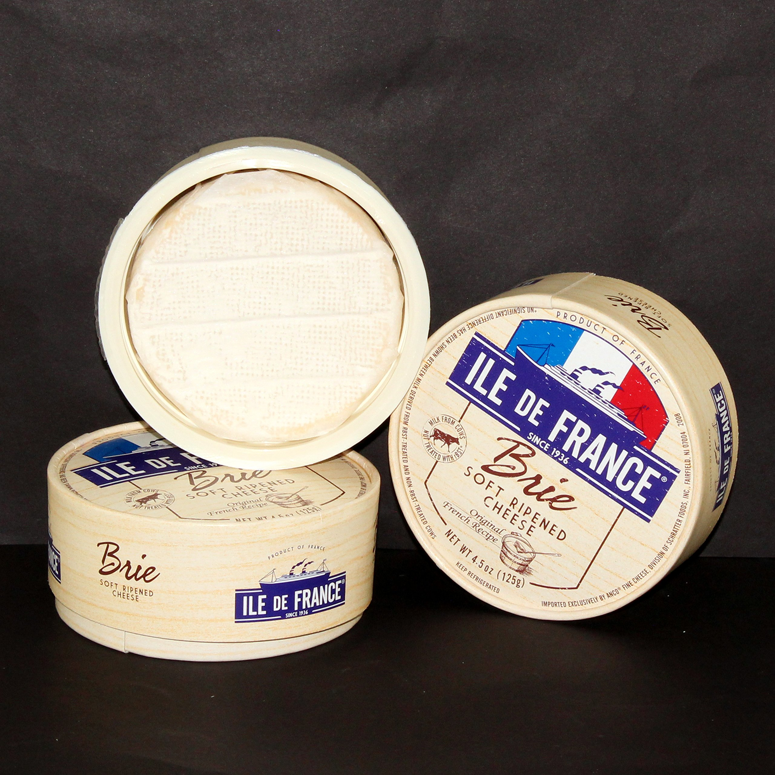 Ile De France Brie Cheese, 4.5 oz., Pack of 12