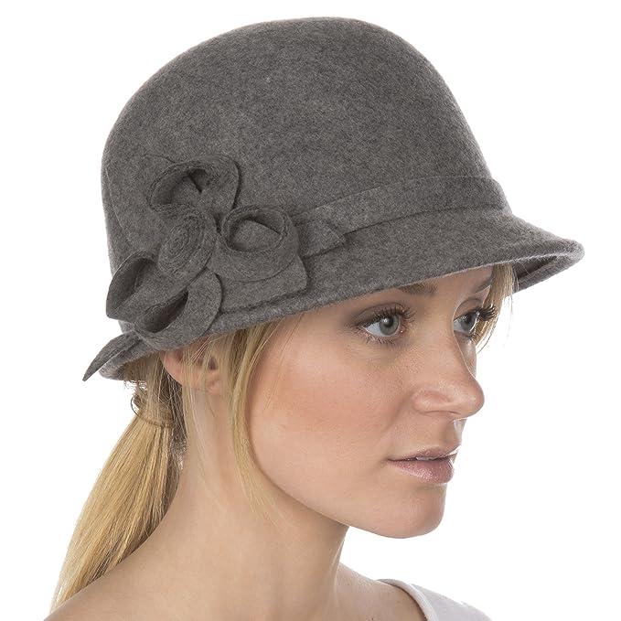 Sakkas 0121LC - Cappello invernale da donna in stile vintage 100% in lana  con fibbia d40c9577fdbb