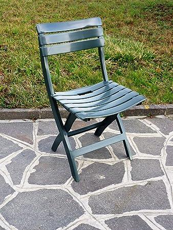 Sedie Per Esterno In Plastica.Set 4 Sedie Pieghevoli Da Esterno In Plastica Antiurto Confezione 4