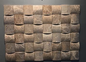 Naturstein Mosaik/Mosaikfliese Aus Marmor Als Wandstein/Steinwand/Verblendstein  | Wandverkleidung Für