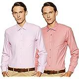 Diverse Men's Printed Regular Fit Formal Shirt (Pack of 2)
