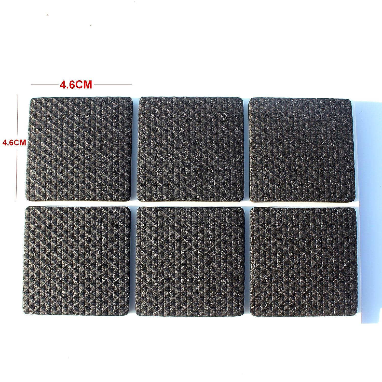 Premium Mobili Pad,Heavy Duty Auto Stick Mobili Feltrini Per Parquet E Rumore Dampening Cancella Gomma Bumper Pads Piazza 4.6X4.6CM 24PCS