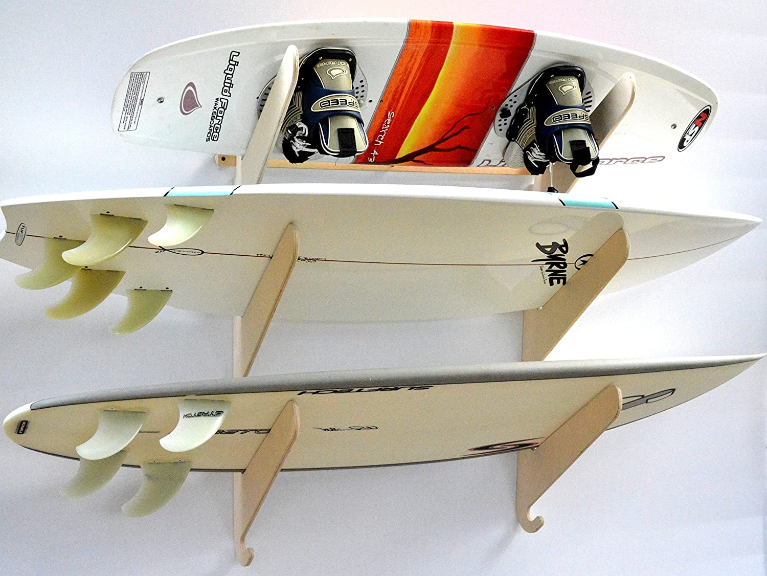 Surfboard Wakeboard Hanging Wall Rack -- 3 Boards