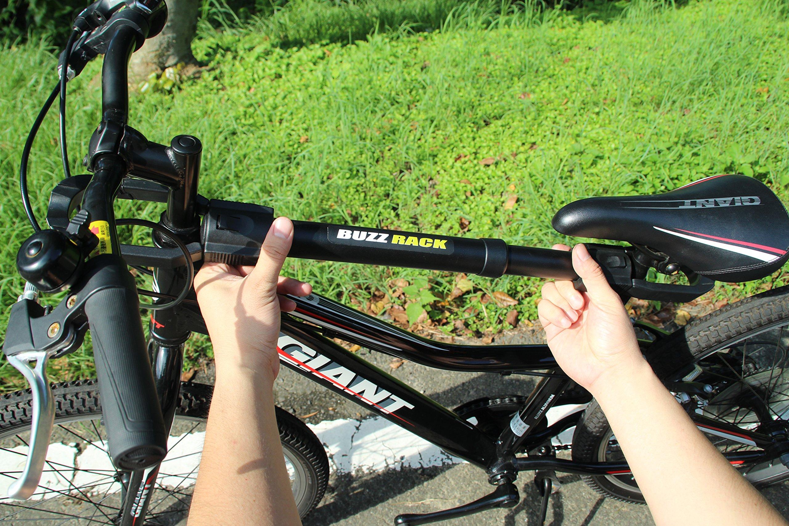 BUZZ RACK GRIP Deluxe Black Bike Top Frame Cross Bar Telescopic Adaptor by BUZZ RACK (Image #8)