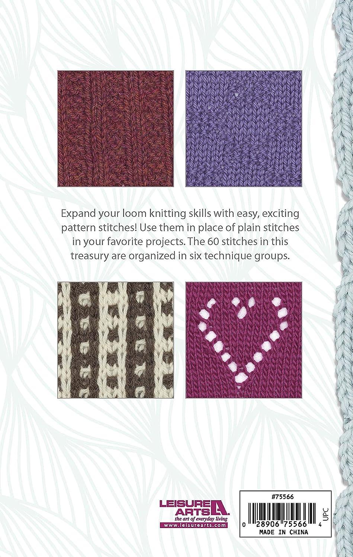 Amazon Com Loom Knit Stitch Dictionary Knitting Leisure Arts