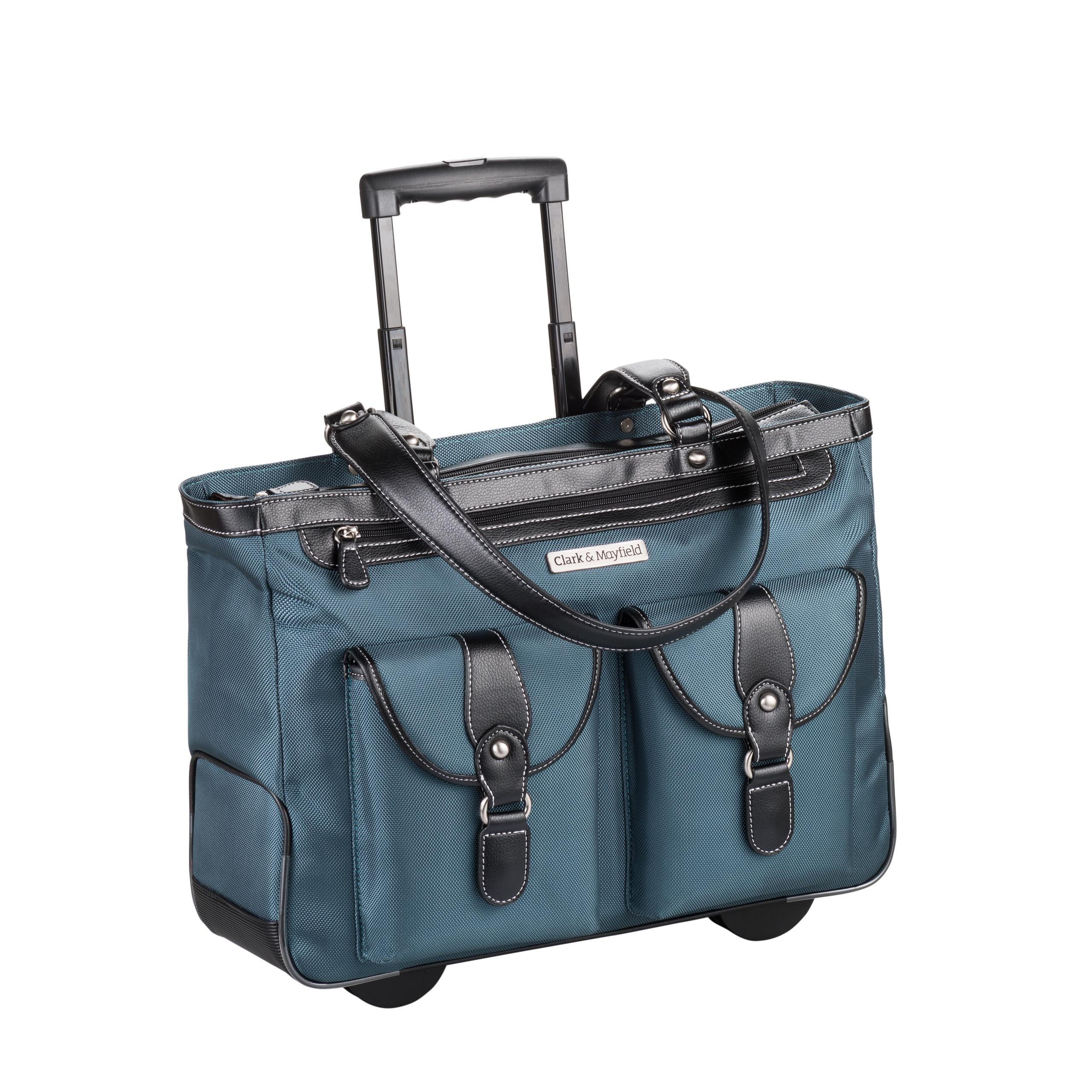 Clark & Mayfield Marquam Rolling Laptop Tote 18.4'' (Deep Teal)