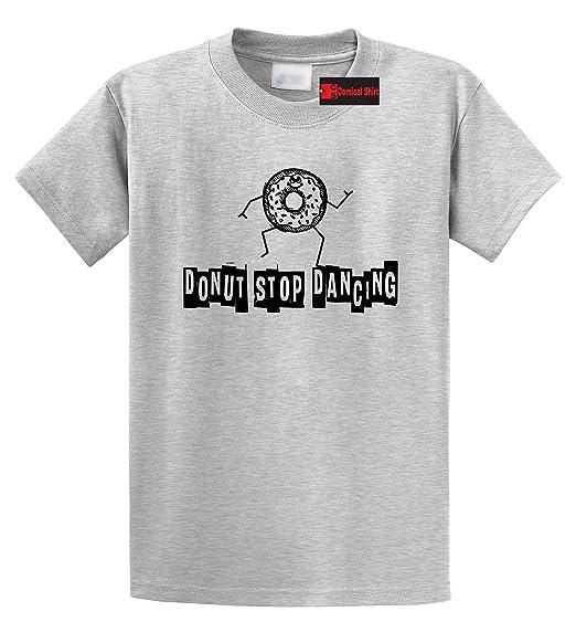 75c82cf98725 Amazon.com: Comical Shirt Men's Donut Stop Dancing Graphic Tee T ...