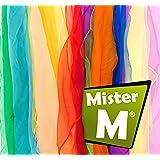 12 Tücher, CE Geprüft - Rhytmik / Jonglier / Tanz Tücher mit GRATIS online Jonglier Lern Video - von MisterM