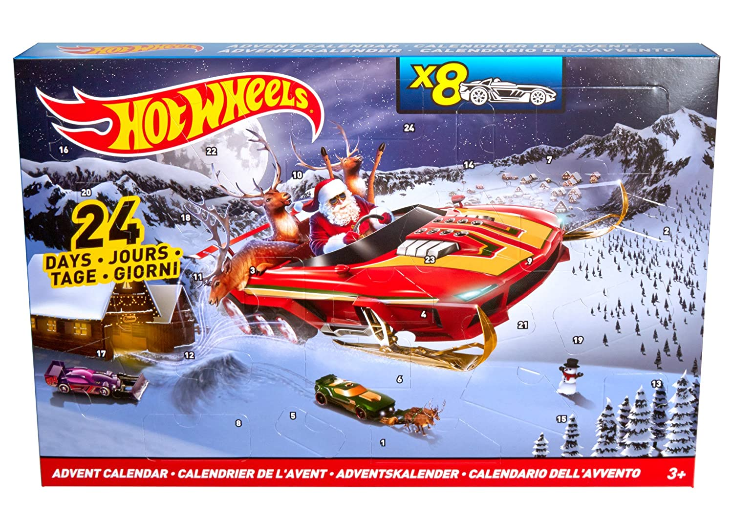 Mattel Hot Wheels Advent calendar DMH 53. DMH53