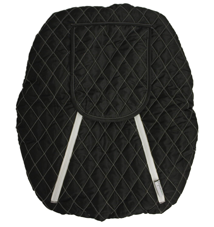 Mint Marshmallow Baby Car Seat Cover, Black Mint Marshamallow MIM010