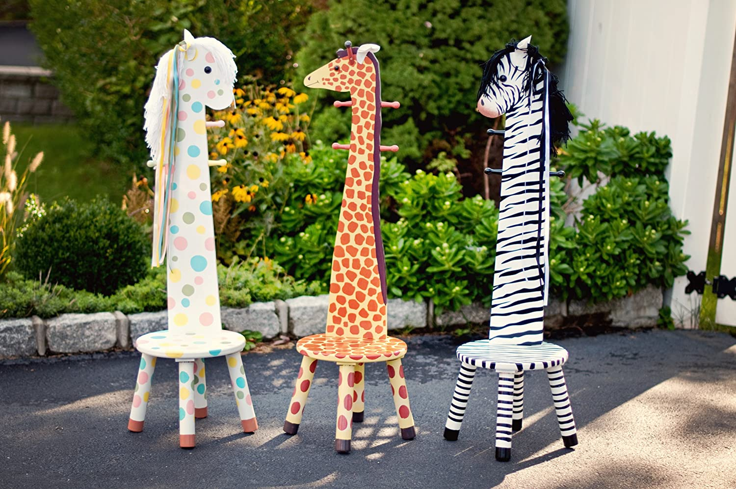 Amazon.com: Teamson Kids   Safari Stool With Coat Rack   Zebra: Toys U0026 Games Nice Design