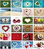 """Edition Colibri Postkarten-Set Liebe """"Love-Cards"""" (Set 2), 24 DIN A 6 Karten mit Herzen, alles verschiedene Motive (10794-817)"""