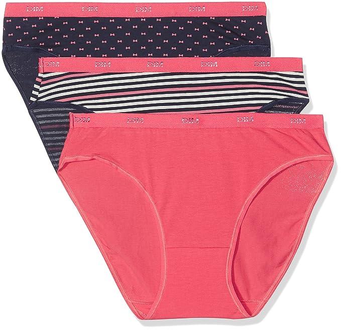 DIM Les Pockets Coton Slips, Braguita para Mujer, Multicolor (Estampado 5MM),