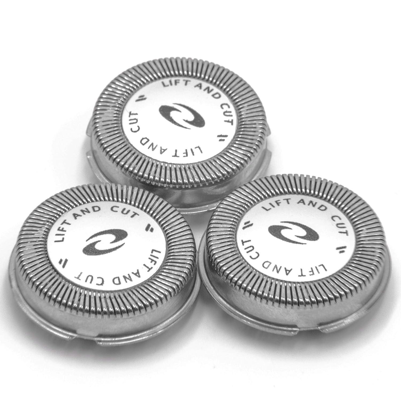 vhbw 3 x Cabezal de Afeitar para afeitadoras Philips PT720, PT721, PT725, PT726, PT728, PT729, PT737, PT739