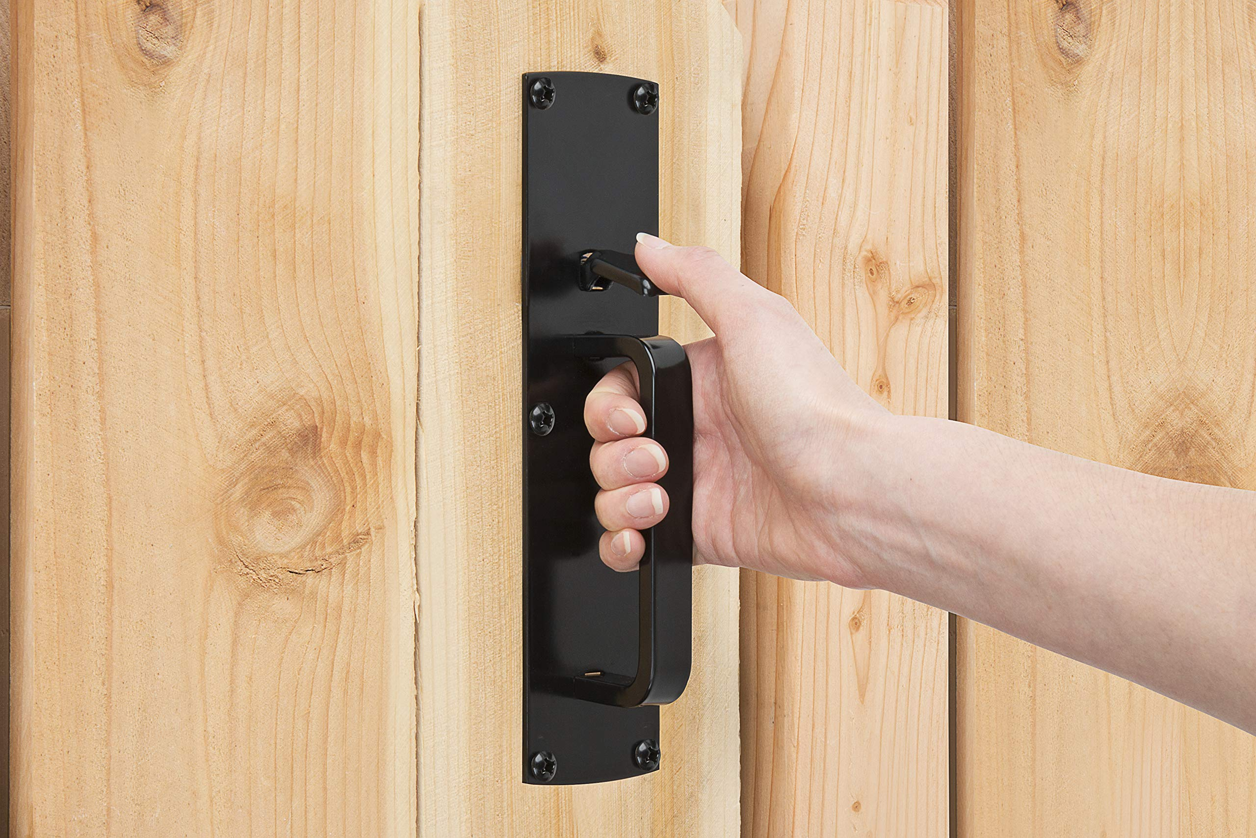 Gate Thumb Latch N109-050 by National Hardware in Black by National Hardware (Image #4)