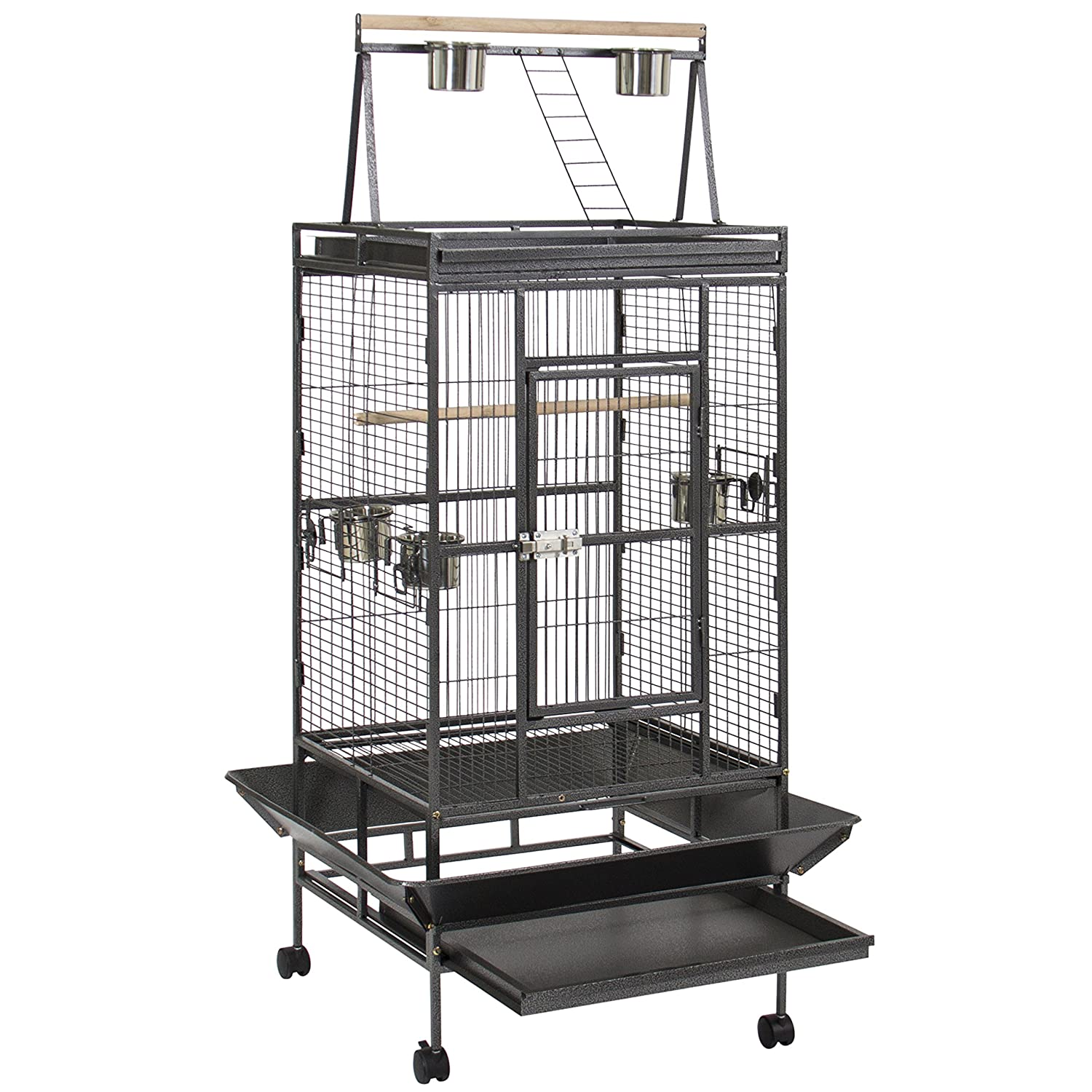 Best Choice Products New Large Play Top Bird Cage Parrot Finch Macaw  Cockatoo Birdcages