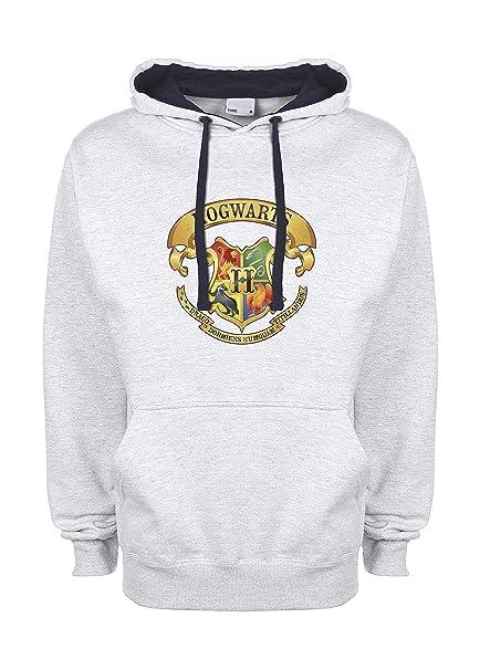 Harry Potter School Hogwarts Color Gris/Azul Muy Oscuro Qualità Superiore Sudadera con Capucha Unisex Large: Amazon.es: Ropa y accesorios