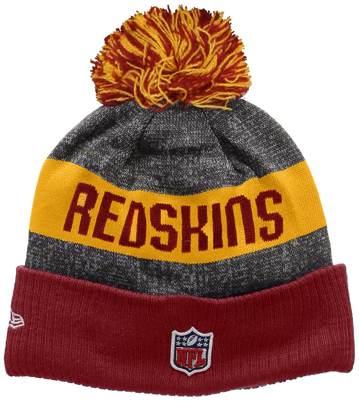 0ec07a39 New Era Men's NFL Sideline Bobble Knit Washington Redskins Beanie