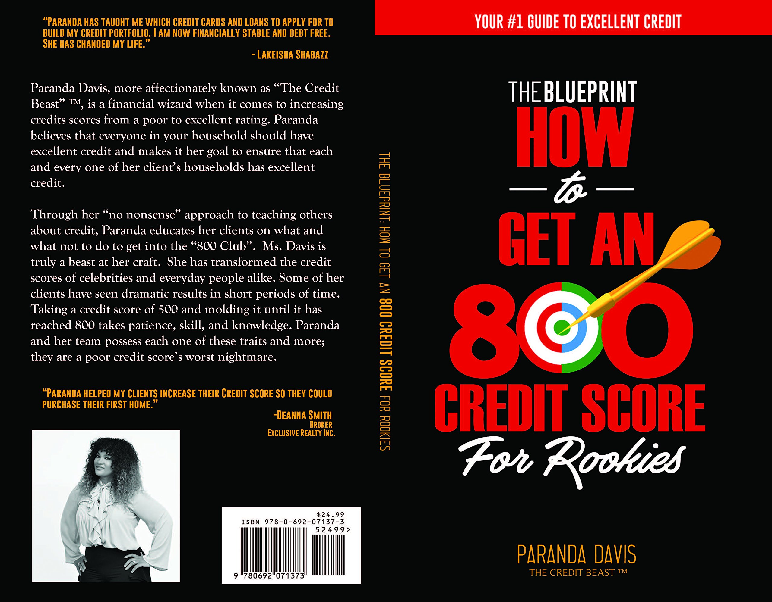 How to get an 800 credit score for rookies the blueprint paranda how to get an 800 credit score for rookies the blueprint paranda davis 9780692071373 amazon books malvernweather Images