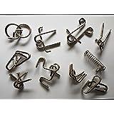 10 tlg. Geduldspiele, Metallpuzzle Puzzle Geschicklichkeitsspiel Metall Knobel-Spass Level 1 u. Level 2