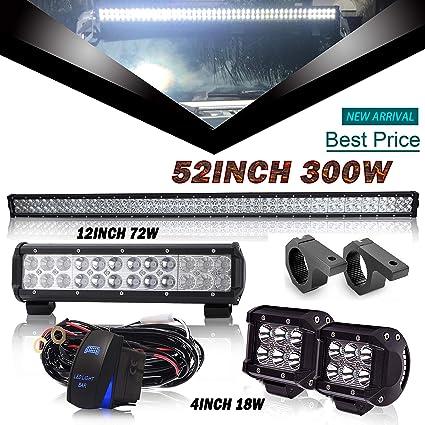 91Dg5l9N%2BrL._SX425_ amazon com dot 52inch led light bar 12inch led light bar 4inch