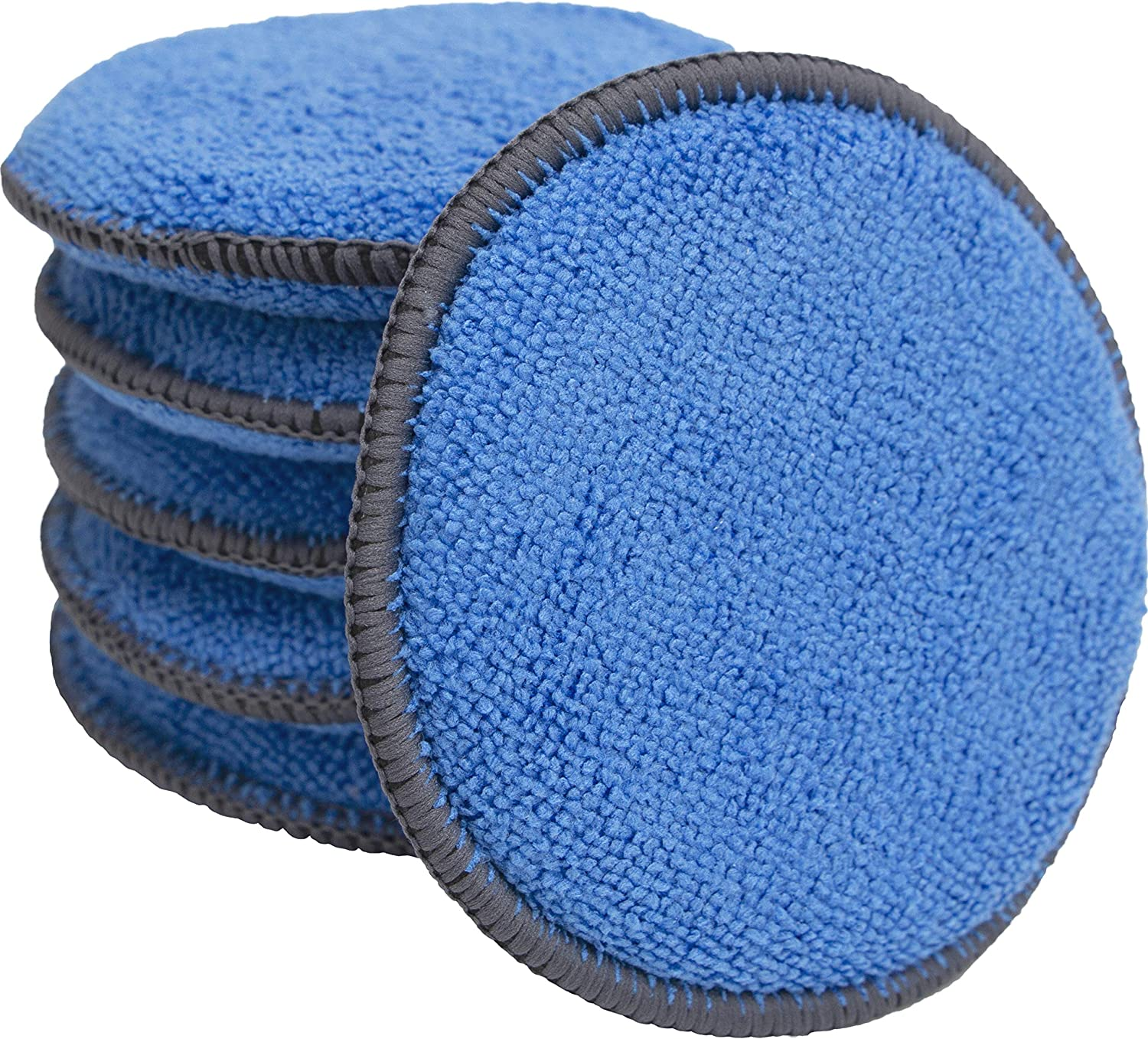 Microfiber Applicator and Cleaning Pads - 5 Inch