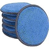 VIKING Microfiber Applicator Pads - 5 In. Diameter Blue/Grey, 6 Pack