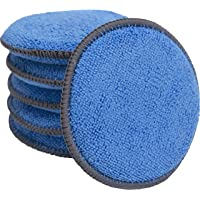 862401 Microfiber Applicator and Cleaning Pads - 5 Inch Diameter, Blue, 6 Pack
