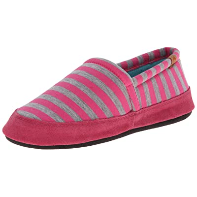 ACORN Women's Moc Summer Weight Slip-On Loafer, Pink Stripe, Small/5-6 M US | Loafers & Slip-Ons