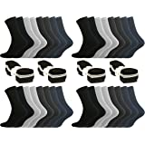 8, 16, 24 oder 32 Paar Damen & Herren Sportsocken Tennissocken Arbeitssocken Baumwollsocken in 5 Farben