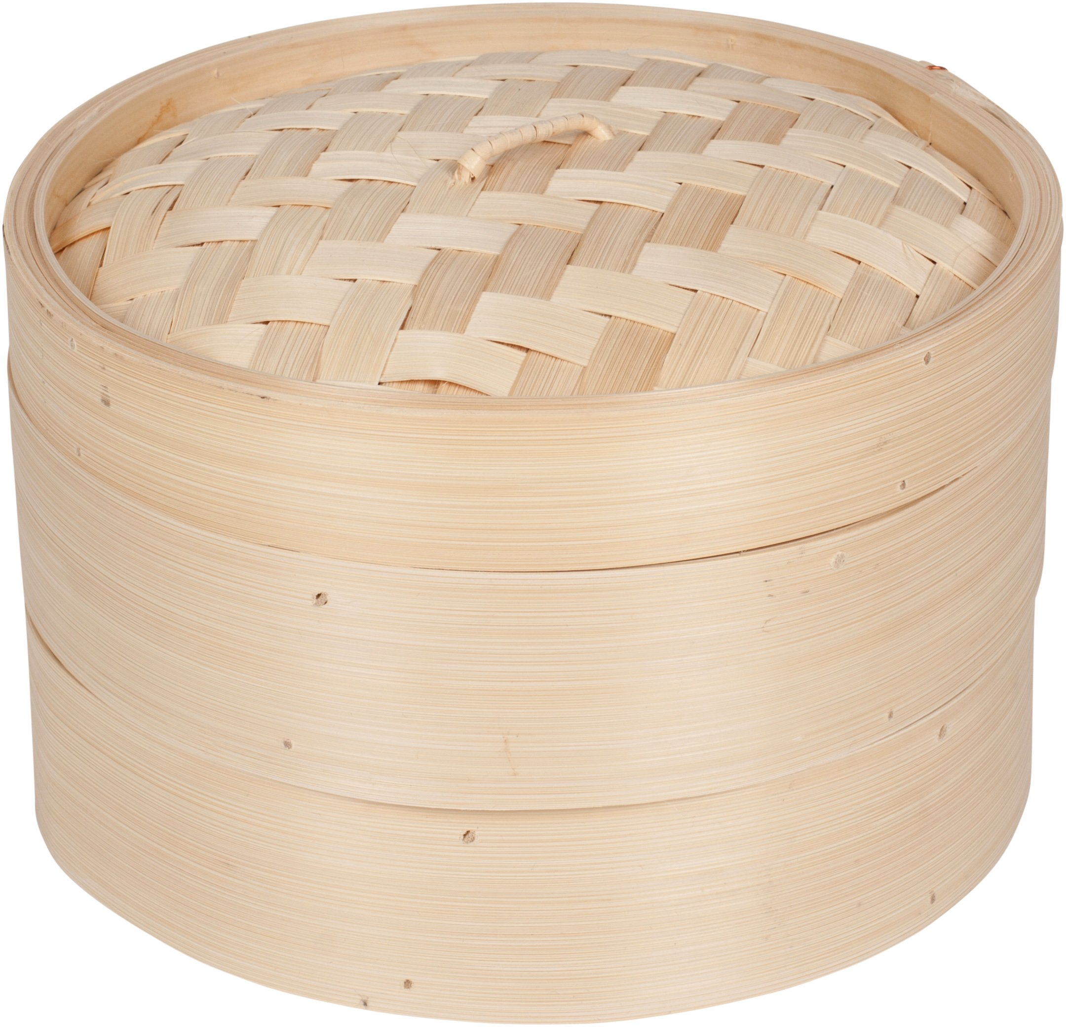 Trademark Innovations 3 Piece Bamboo Steamer, Standard, Tan by Trademark Innovations
