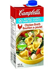 Campbell's No Salt Added Chicken Broth, 900ml