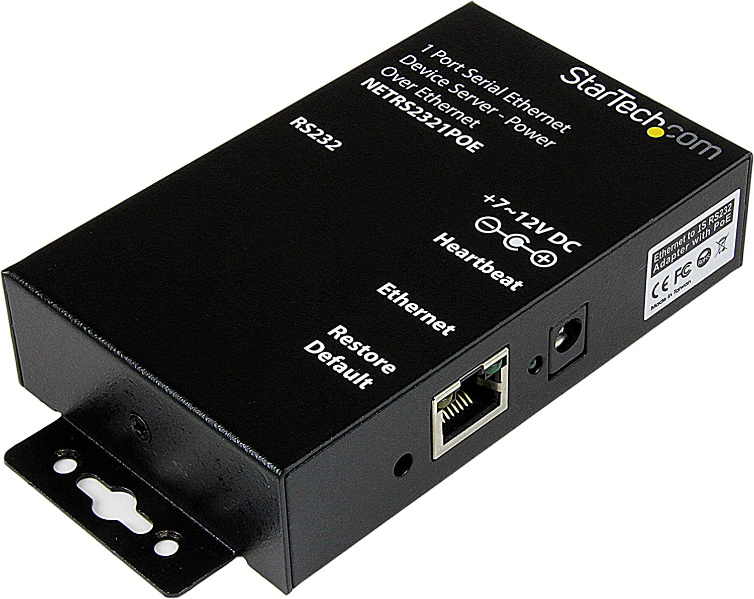 Startech.Com Convertitore Seriale Ethernet Rs-232 a 1 Porta Poe Power Over Ethernet
