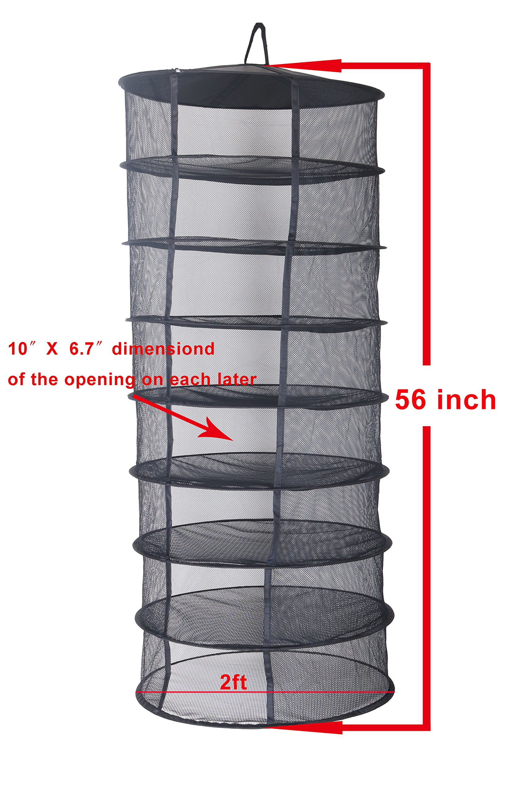 Zazzy 2ft 8 Layer Black Mesh Hanging Herb Drying Rack Dry Net by Zazzy (Image #2)