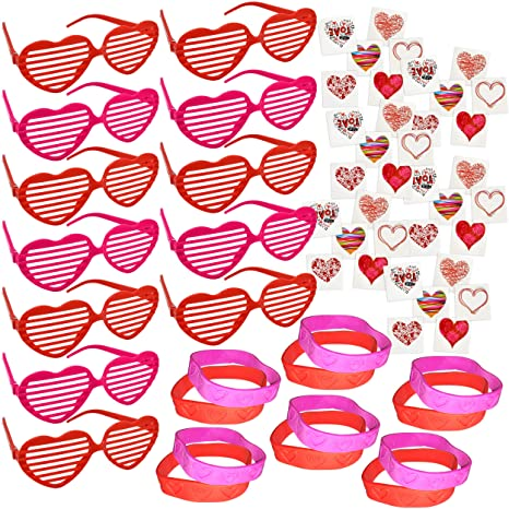 7a8deeb82a5 Amazon.com  96 Valentines Day Party Favors for Kids includes 12 ...