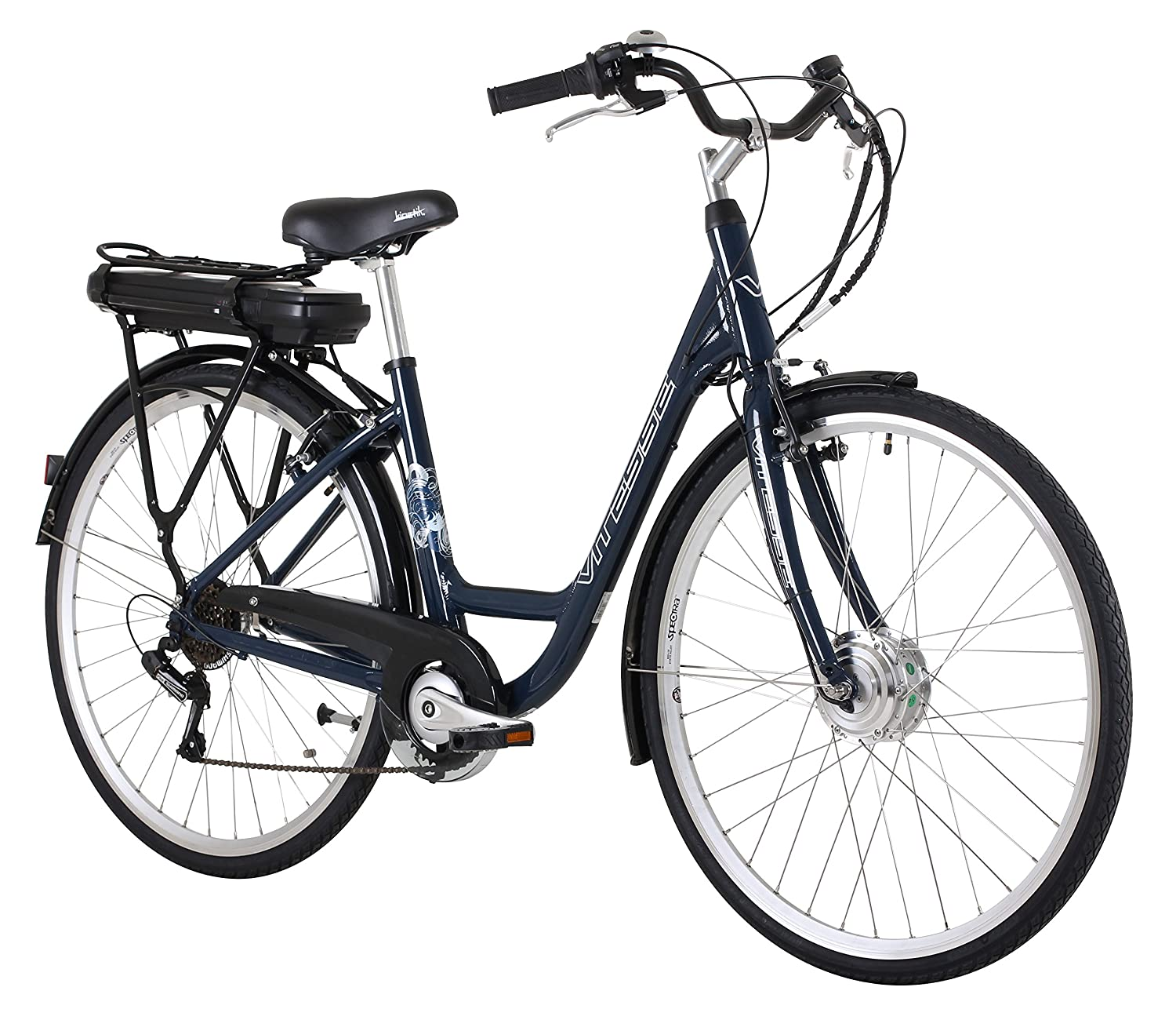 1a03ff6e71f Vitesse Unisex Shimano 6-Speed Electric Bike, Midnight Blue, 18-inch frame:  Amazon.co.uk: Sports & Outdoors